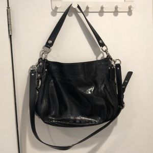 Coach Black Patent Leather Purse
